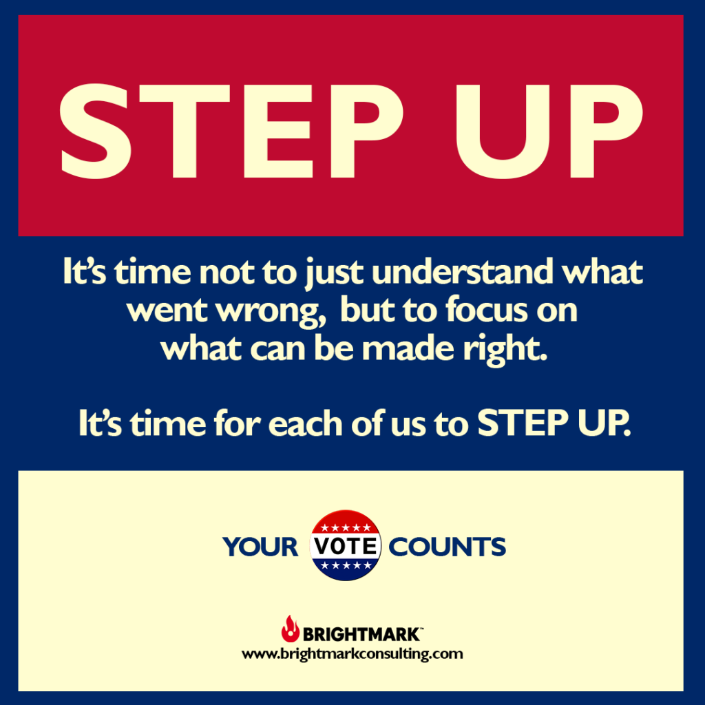 BrightMark Step Up Campaign graphic 1 - Your vote counts